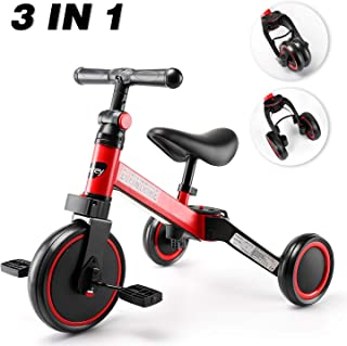 besrey Balance Bike, Light Weight Kids Tricycle,Toddler Bike, Ultimate 3-in-1 Design Baby Bike for 1-3 Years Old