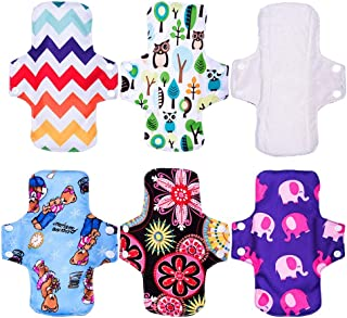 "KYK 9"" Regualr Cloth Menstrual Pad Sanitary Napkin Female Liner Reusable Breathable Bamboo Fiber or Bamboo Charcoal inner (Color : F4)"
