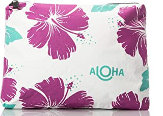 ALOHA Collection Mid Hibiscus Pouch in Pitaya
