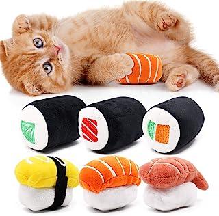 Rhdekoein Spielzeug mit Katzenminze 6 Stücke Katzenminzespi
