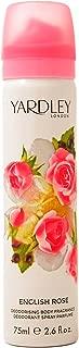 Yardley London for Women Deodorant Body Spray, English Rose, 2.5 Ounce