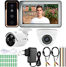 𝐍𝐞𝒘 𝐘𝐞𝐚𝐫𝐬 𝐆𝐢𝐟𝐭𝐬Home Visual Doorbell, 100-240V 10inch WiFi Wired Video Doorbell with AHD 720P Surveillance Cam...