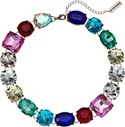 Rainbow Jeweled Statement Necklace