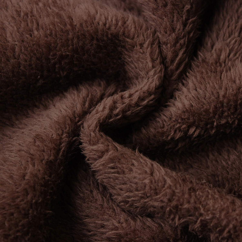 Kanpola Damen Winterjacke Oversize Lange Teddy-Futter Mantel Plüschjacke Winter Warme Cardigans Kapuzenjacke mit Taschen Retro Outwear Oberteile 61 - Violett