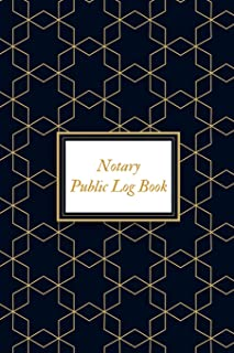 Notary Public Logbook: Portable Official Notary Journal| Public Notary Records Book|Notarial acts records events Log|Notary Template| Notary Receipt Book