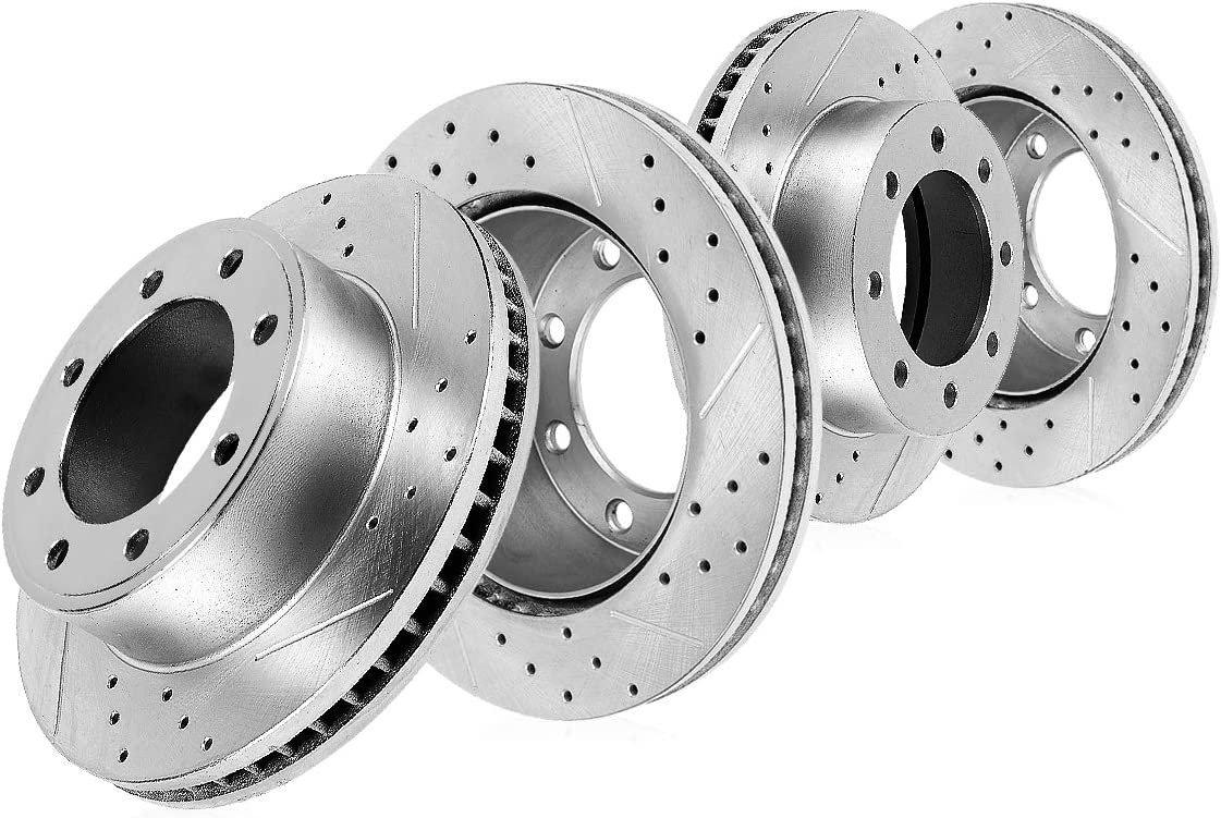 Callahan CDS02524 FRONT 360mm + REAR 358.26mm Roto D S Bombing new Max 85% OFF work Lug 4 8