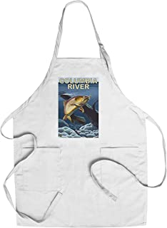 Columbia River, Oregon - Cutthroat Trout Cross-Section (Cotton/Polyester Chef's Apron)