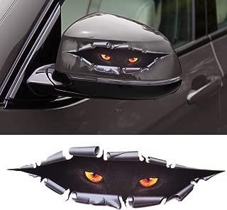 beler 3D Simulation Leopard Monster Eyes Car Sticker Auto Truck Decal Printed Window Decoration
