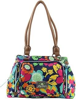 Triple Section Maggie Multi-Purpose Satchel Bag