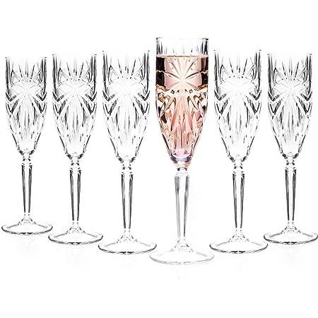 RCR 26327020006 flûtes à Champagne Oasis Crystal/Verres Prosecco, Lot de 6, va au Lave-Vaisselle, Parfait pour Les Anniversaires, Les Nouveaux propriétaires, Les événements et Les Occasions