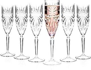 RCR 26327020006 flûtes à Champagne Oasis Crystal/Verres Prosecco, Lot de 6, va au Lave-Vaisselle, Parfait pour Les Anniver...