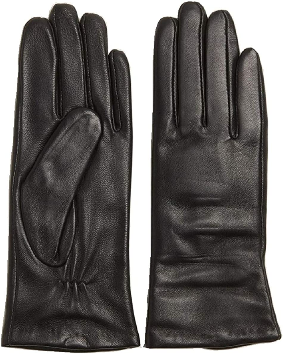 Imperial Soft Ladies Gloves, Black Cashmere-lined Leather Gloves XL