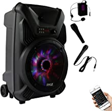 Powered Bluetooth PA Active Speaker System - 12 Inch Bass Subwoofer Stage speaker w/ Built-in USB for MP3 Amplifier, DJ Party Sound Equipment Stereo Amp Sub for Concert Audio or Band Music- Pyle