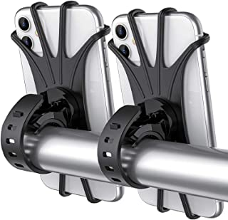 Tropiz Bike Phone Mount, 360° Rotation Bike Phone Holder, Adjustable Handlebar Cradle for iPhone 11/XR/XS Max/X, 6/6S/7/8 ...