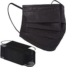 Black 50 PCS Disposable Masks 3Ply Non Woven Face Masks with Elastic Ear Loops Anti Dust Breathable Filter Mask (50PCS, 50PCS Black)