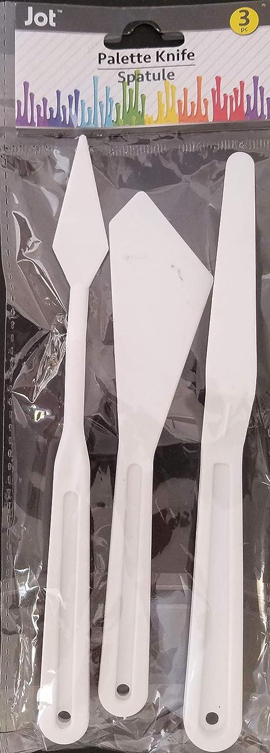 """Plastic Art Paint Multi-Shaped Palette Knives Tools 7"""" 3/Pk"""
