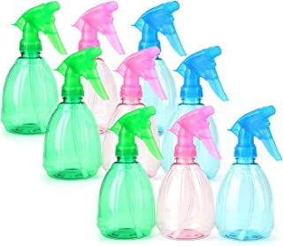 Bekith 9 Pack 12 Oz Empty Plastic Spray Bottles Multi Purpose Use Sprayers Assorted Colors