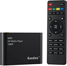 Keedox Mini Multi Media Player Upscaling Full HD 1080P HDMI/AV Out SDHC MKV AVI RMVB RM for HDTV with Remote Control