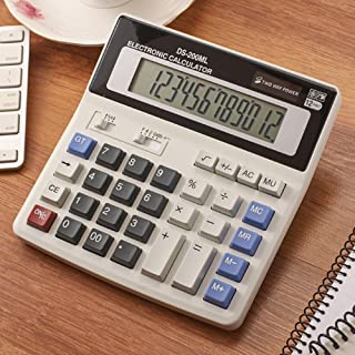 12-Digit Battery Dual Powered Handheld Electronic Business Mini Solar Basic Desktop Financial Scientific Office Calculator...