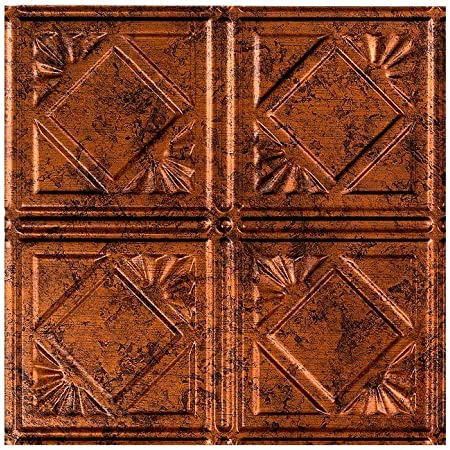 Fasade Easy Installation Traditional 4 Moonstone Copper Lay In Ceiling Tile Ceiling Panel 12 X 12 Sample Amazon Com