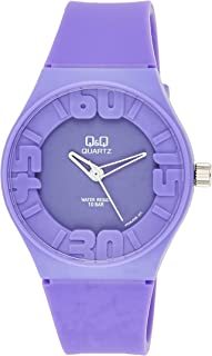 Q&Q Men's Purple Dial Rubber Band Watch - VR36J006Y