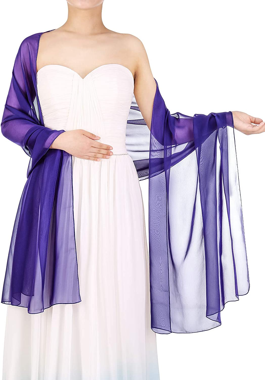 Bbonlinedress Schal Chiffon Stola Scarves in Verschiedenen Farben Royal Blue