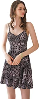 M&U Women's Cute Print Comfortable Spaghetti Dress