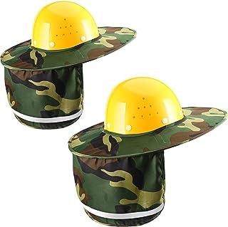 47ba87cd377 Jovitec 2 Pieces Helmet Sun Shade Hard Hat Sun Neck Shield with Full Brim