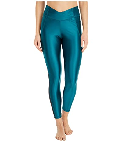 Reebok Shiny Lycra High-Rise Tights (Heritage Teal) Women
