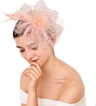 Fascinator Vintage Derby Tea Hats with Headband Clip for Women