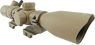 Monstrum 3-9x32 Rifle Scope with Rangefinder Reticle and High Profile Scope Rings