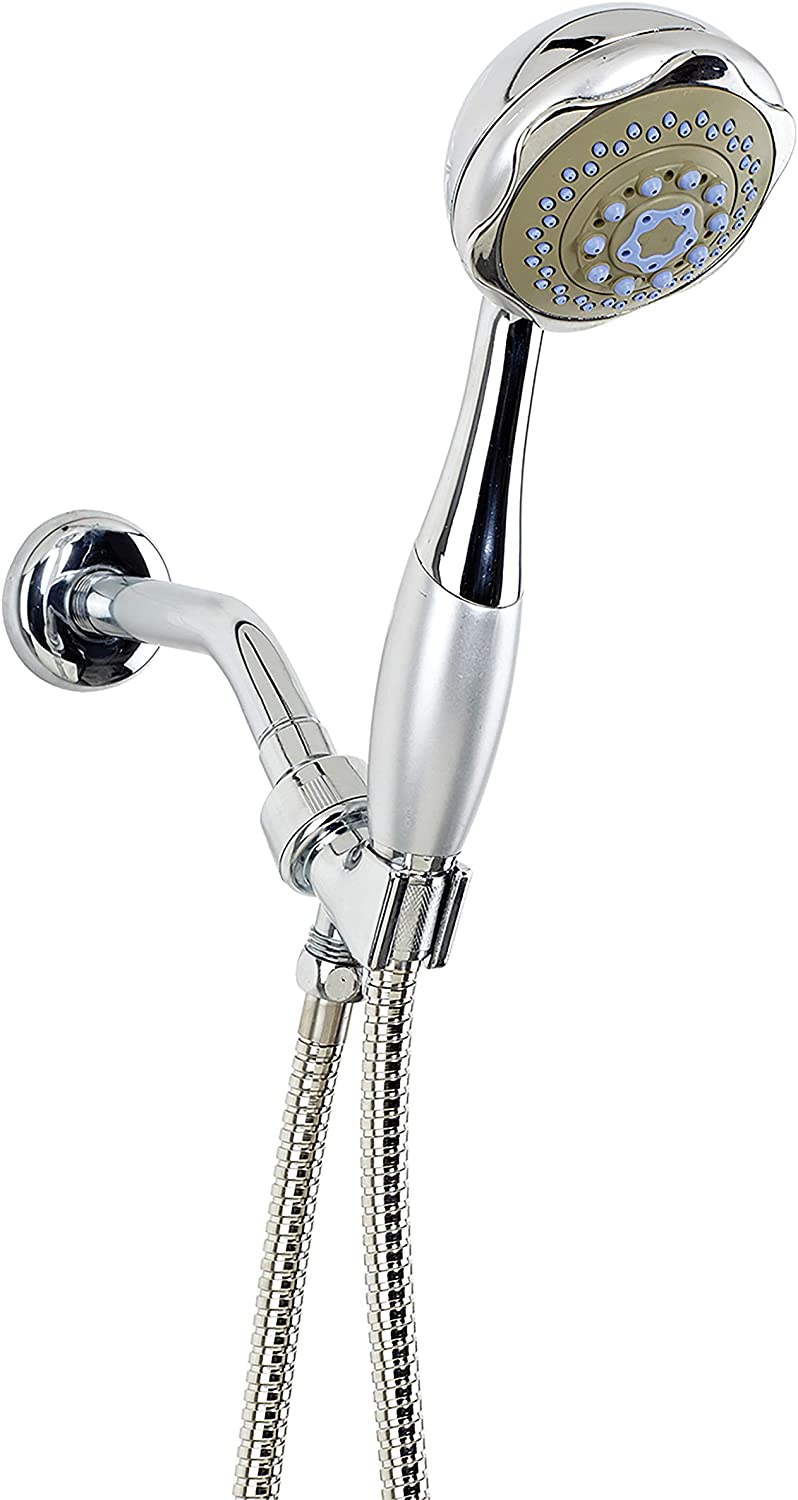 Bath Bliss Chrome New life 4 Function Hand Spray shipfree with Cord Head Ma Held