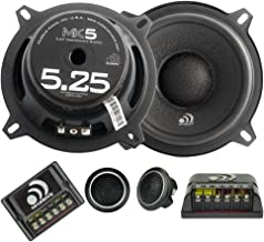 Massive Audio MK5 – 5 Inch/ 5.25 Inch 260 Watts Max / 130w RMS, 4 Ohm, MK Series, 25mm Silk Tweeter Car Audio Component Speaker System (Sold as Pair)