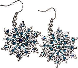 Szxc Jewelry Snowflake Dangle Earrings Christmas Holiday Gifts for Women Teen Girls