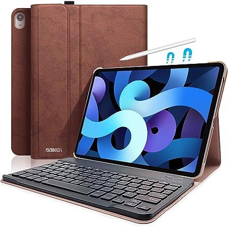Teclado para iPad 10.9 2020 Air 4 / iPad Pro 11 2018, Funda 11 con Teclado Español (Incluye Letra Ñ) Bluetooth Inalámbrico y Bandeja de Pluma para ...