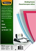Fellowes 5376001 Copertine per Rilegatura in PVC Trasparente, Formato A4, 150 Micron, Confezione da 100 Pezzi