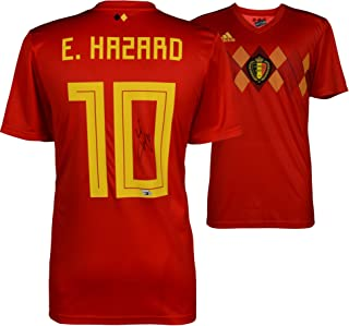 Eden Hazard Belgium Autographed 2018 Red Home Jersey - Fanatics Authentic Certified - Autographed Soccer Jerseys