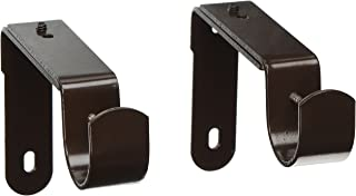 Urbanest Set of 2 Curtain Rod Bracket, Adjustable, Fits 1 1/4 Rod, Bronze