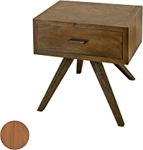 GUILD MASTER 7117011ET Teak Patio Side Table With Storage In Euro Teak Oil