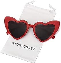 STORYCOAST Heart-Shaped Sunglasses Women Vintage Black Pink Red Heart Shape Sun Glasses