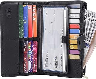 Women's Big Fat Rfid Leather wallet clutch organizer checkbook holder