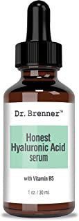 1 oz. Hyaluronic Acid Serum For Skin, Made with 100% Pure Hyaluronic Acid, Plumping, Anti-Aging, Hydrating, Moisturizing H...