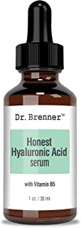 1 oz. Hyaluronic Acid Serum For Skin, Made with 100% Pure Hyaluronic Acid, Plumping, Anti-Aging, Hydrating, Moisturizing HA Serum With Vitamin B5 by Dr. Brenner