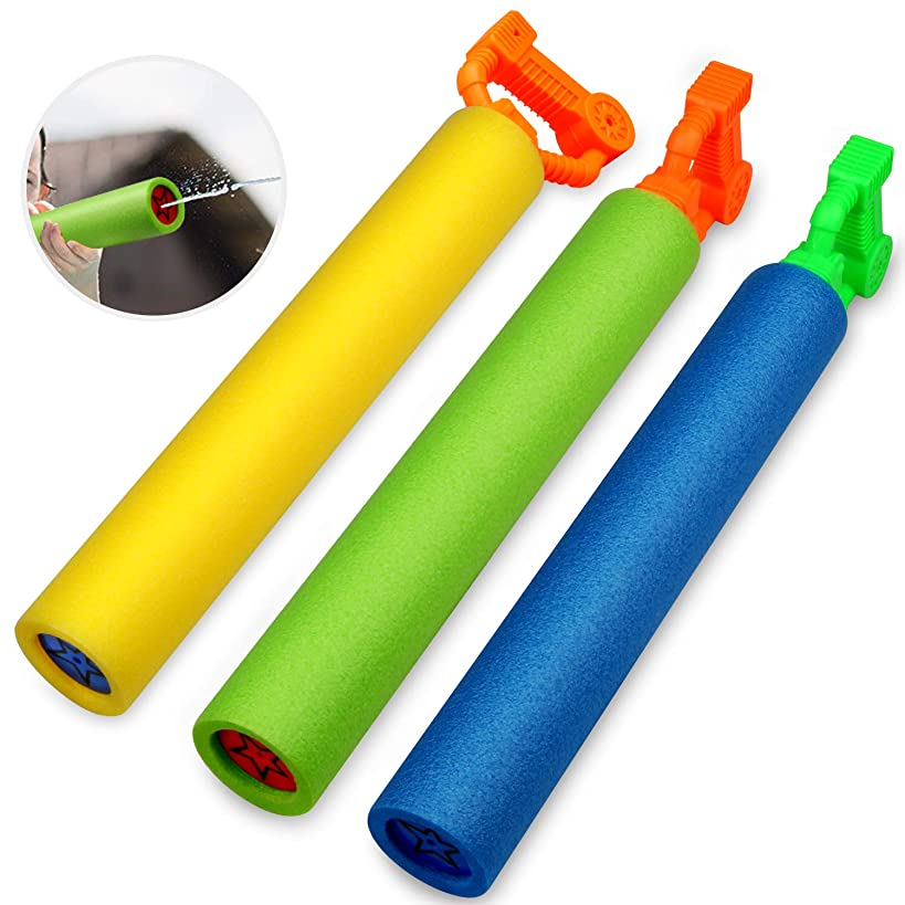 Betheaces Water Guns for Kids, 3Pack Super Soaker Foam Water Blaster Shooter Summer Fun Outdoor Swimming Pool Games Toys for Boys Girls Adults