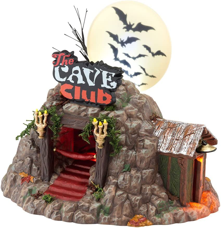 Department 56 Snow Village Halloween The Baltimore Mall 5. Cave Fashionable House Club Lit