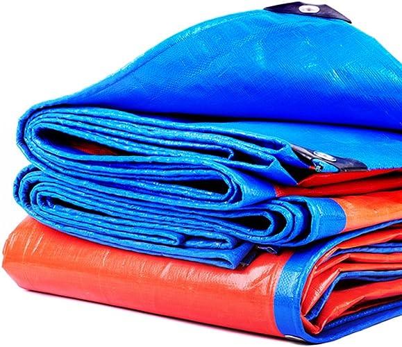 LXYFMS Bache Imperméable à l'eau De Prougeection Solaire épaississeHommest Pluie Ombre Tissu Bache D'isolation Bache extérieure (Couleur   bleu+Orange, Taille   4x5m)