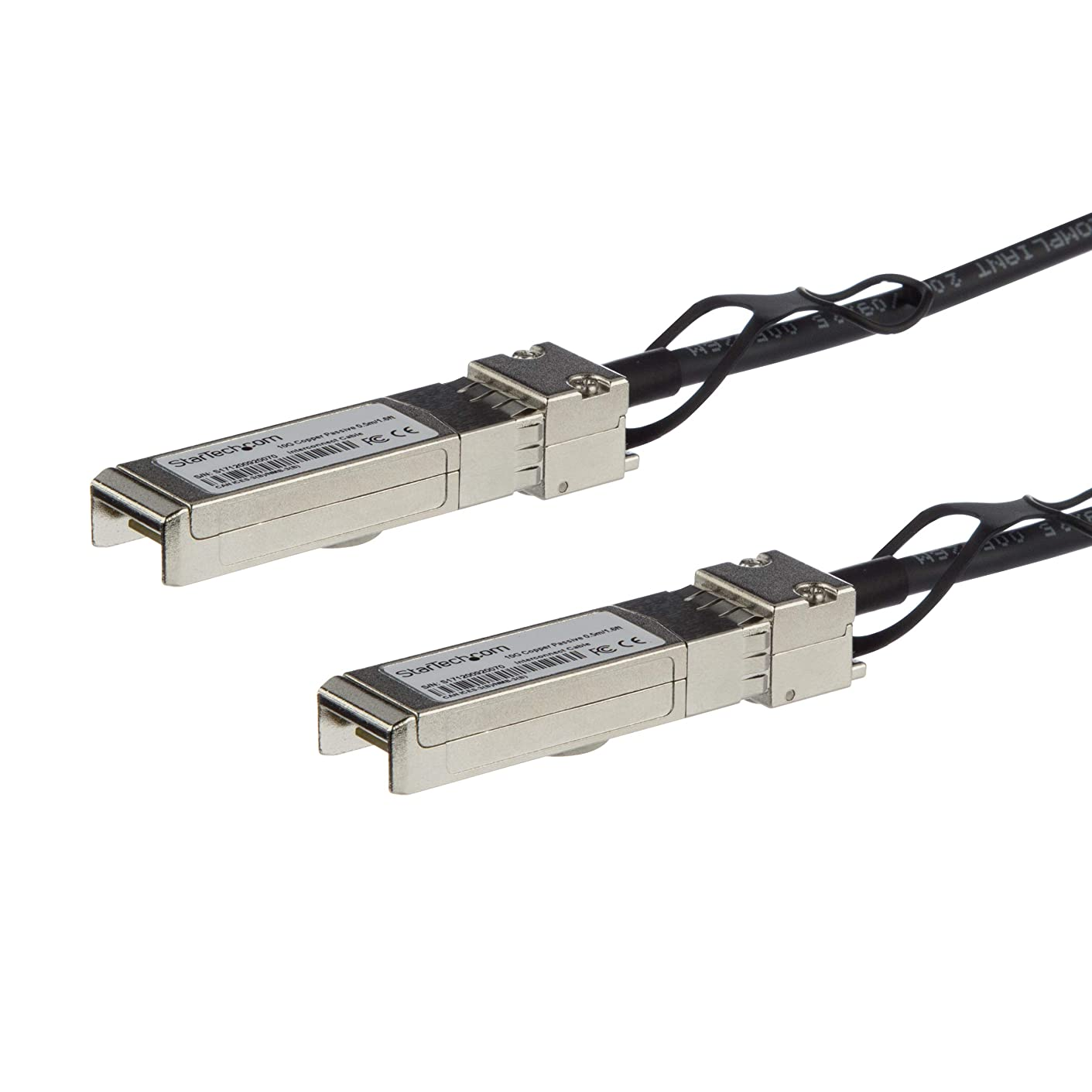 StarTech.com SFP+ DAC Twinax ケーブル MSA準拠 1m 10GbE パッシブダイレクトアタッチケーブル Mini-GBICケーブル SFP10GPC1M