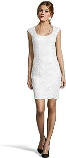 Sue Wong Women's Lace Cap Sleeve Sheath Dress