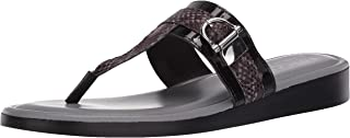 Easy Street womens Slide Sandal, Black Patent, 6.5 Wide US