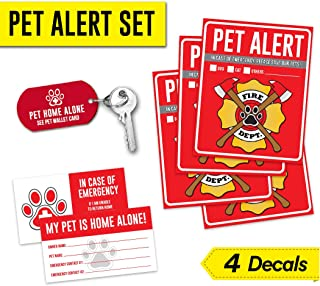 Evolve Skins Pet Alert Safety Fire Rescue Sticker - Save Our Pets Emergency Pet Inside Decal